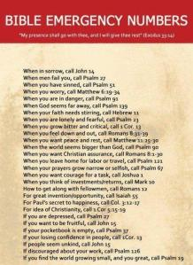 Bible Emergency Contact Numbers