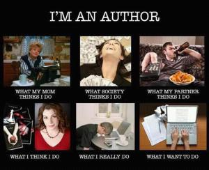 What an author does